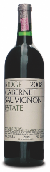 Ridge Cabernet Sauvignon Estate 2008