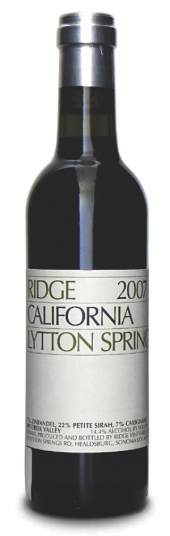 Ridge Zinfandel Lytton Springs 2009  - meia gfa.