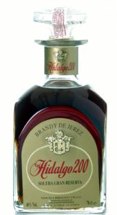 Brandy Solera Gran Reserva Hidalgo 200  - 700 ml
