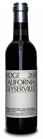 Ridge Zinfandel Geyserville 2010  - meia gfa.