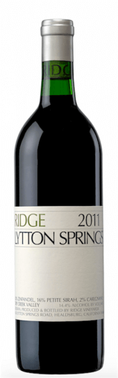 Ridge Zinfandel Lytton Springs 2012