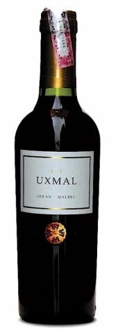 Uxmal Syrah Malbec 2015  - meia gfa.