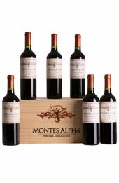 Montes Alpha Vintage Collection Cabernet - Kit com 06 garrafas