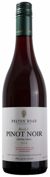 Felton Road Block 5 Pinot Noir 2016