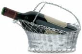 Cesta de garrafa para decantação, em metal prateado - L'Esprit & le Vin