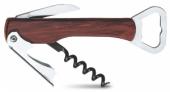 Saca-rolhas Sommelier de 4 funções, em mogno com teflon - L'Esprit & le Vin