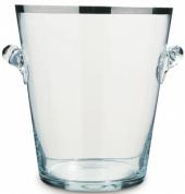 Balde de gelo em vidro c borda prateada - L'Esprit & le Vin
