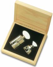 Cx c 01 abridor e 01 rolha de vedação p champagne em metal prateado - L'Esprit & le Vin