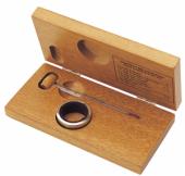 Caixa de madeira com termômetro Tonneau e colar corta-gotas - L'Esprit & le Vin
