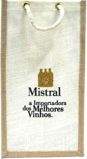 Sacola Logo Mistral, alça de corda p 2 gfas